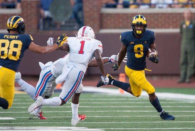 Donovan Peoples-Jones has four of Michigan's seven receiving TD this season.