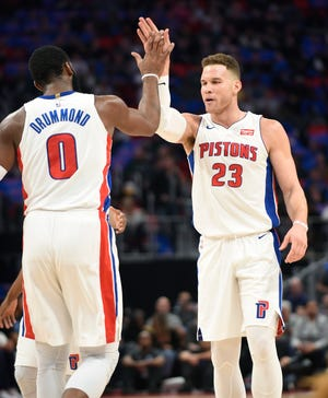 Andre Drummond and Blake Griffin will play their first full season together, starting in October.