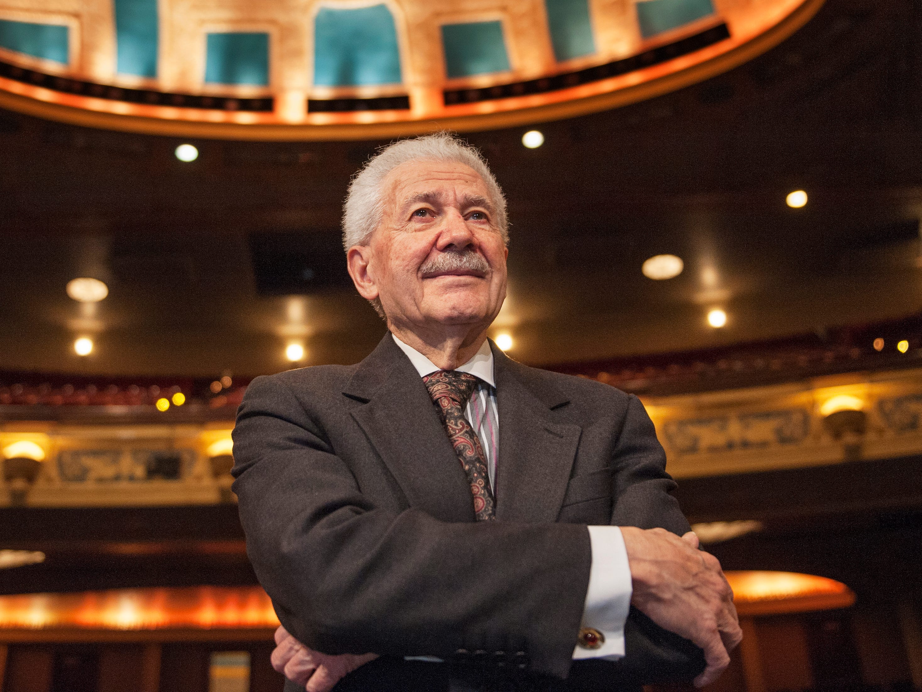 Michigan Opera Theatre artistic director David DiChiera inside the Detroit Opera House in Detroit.  DiChiera, acultural powerhousewho brought opera back to the Motor Cityand helped jump-start downtown's revival, died Tuesday.