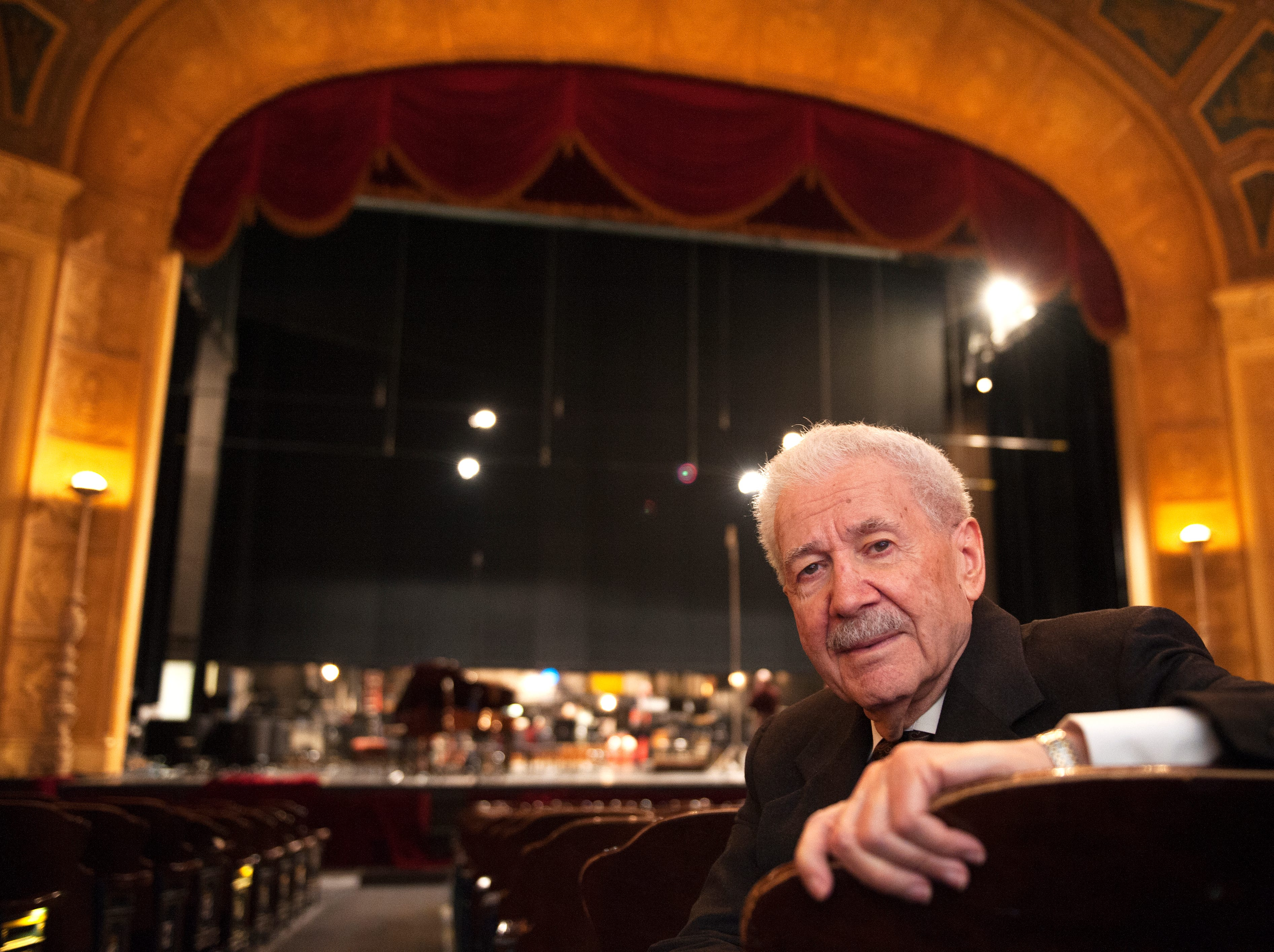 Michigan Opera Theatre artistic director David DiChiera inside the Detroit Opera House in Detroit on Friday, March 4, 2016. DiChiera founded MOT in 1971.