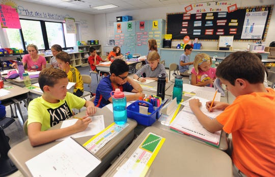 Tonda Elementary students work on their studies during class, Monday, Sept. 17, 2018 in Canton, Mich.