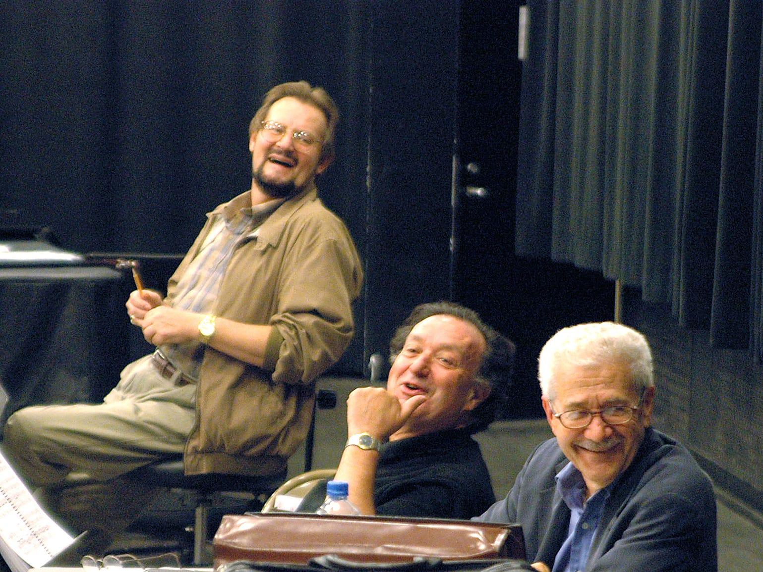 "Orchestrator and conductor Mark D. Flint, director and Librettist Bernard Uzan, and composer David DiChiera talk about ""Cyrano."""