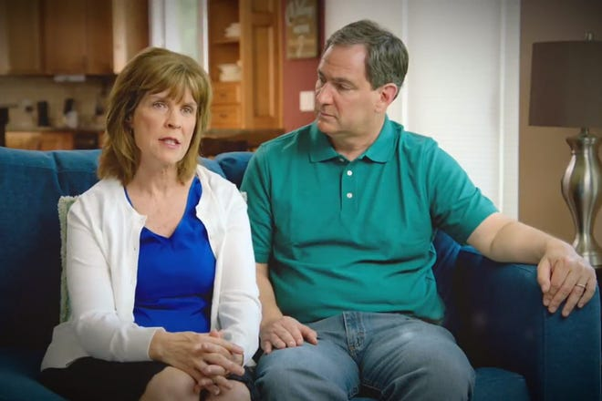 Lee and Mark Weick appear in a new gubernatorial campaign ad for Republican Bill Schuette, Michigan's attorney general.