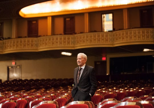 Michigan Opera Theatre artistic director David DiChiera inside the Detroit Opera House in Detroit. DiChiera founded MOT in 1971 and served as its director. Photos taken on Friday, March 4, 2016. (John T. Greilick, The Detroit News)