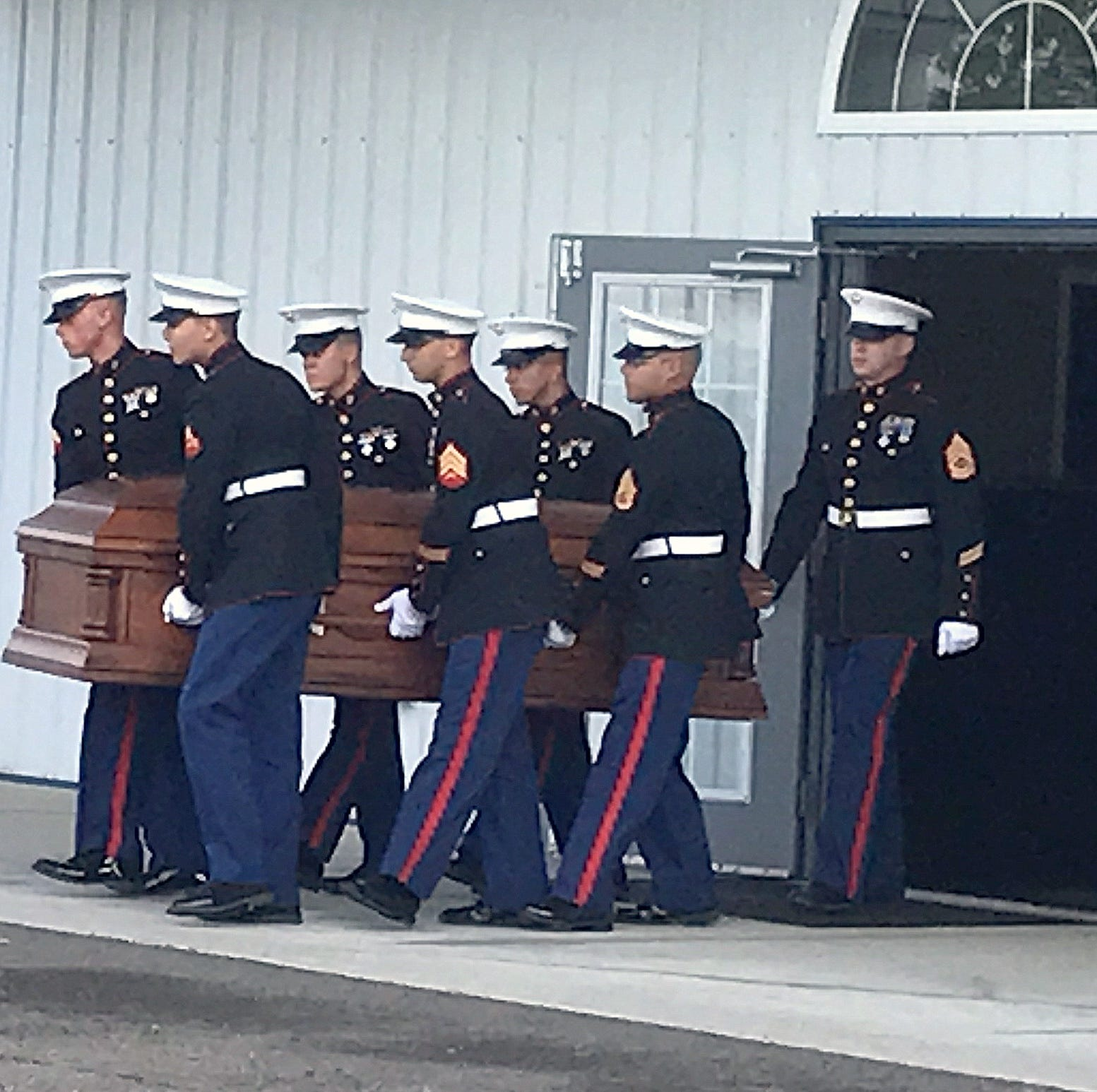 Military funeral for slain U.S. Marine from Horseheads