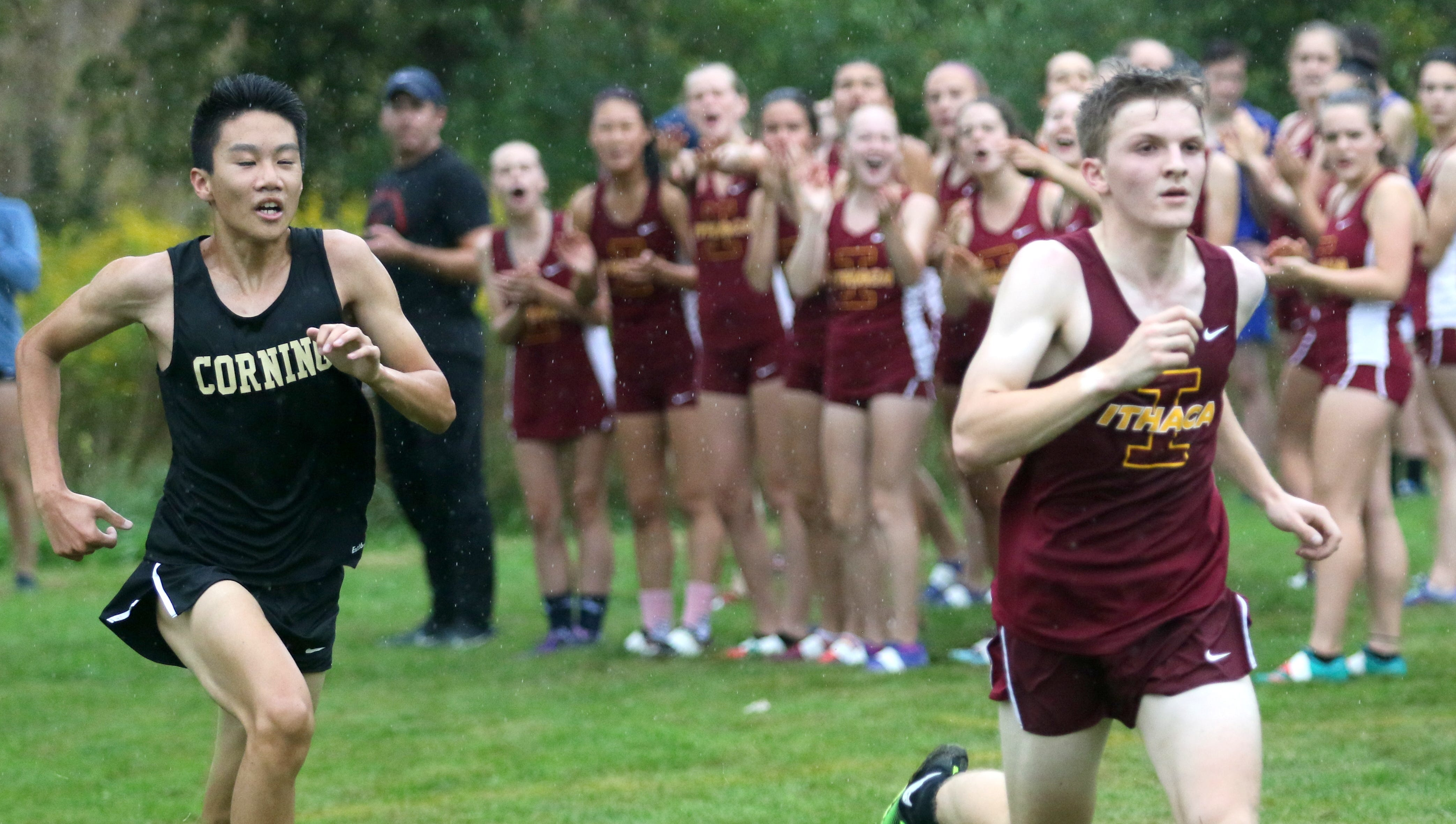 Runners compete in the STAC West cross country championship meet Sept. 17, 2018 at Sperr Memorial Park in Big Flats.