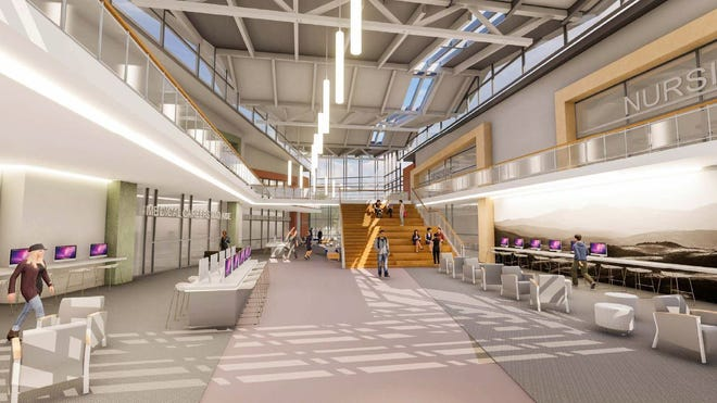 A rendering of the planned health-care careers center at Front Range Community College in Fort Collins. About 900 students are enrolled in health related fields of study.