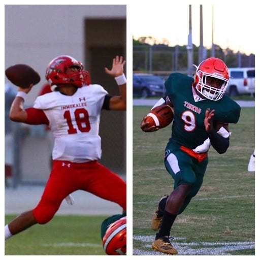 Immokalee's RJ Rosales, left, and Dunbar's Seneca Milledge are as good as any players in Southwest Florida.