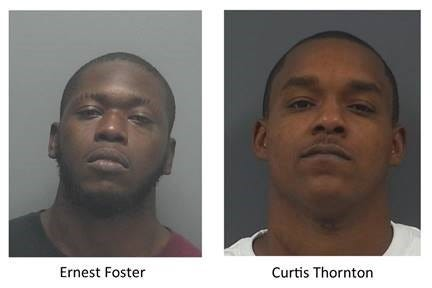 Fort Myers police are searching for Ernest Foster, 27, and Curtis Thornton, 29, who they believe may be linked to a homicide.