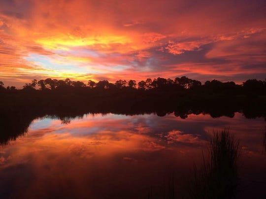 Spectacular sunrise over Southwest Florida