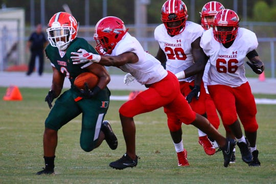 Scenes from the Immokalee at Dunbar high school football game Monday night, Sept. 17, 2018.