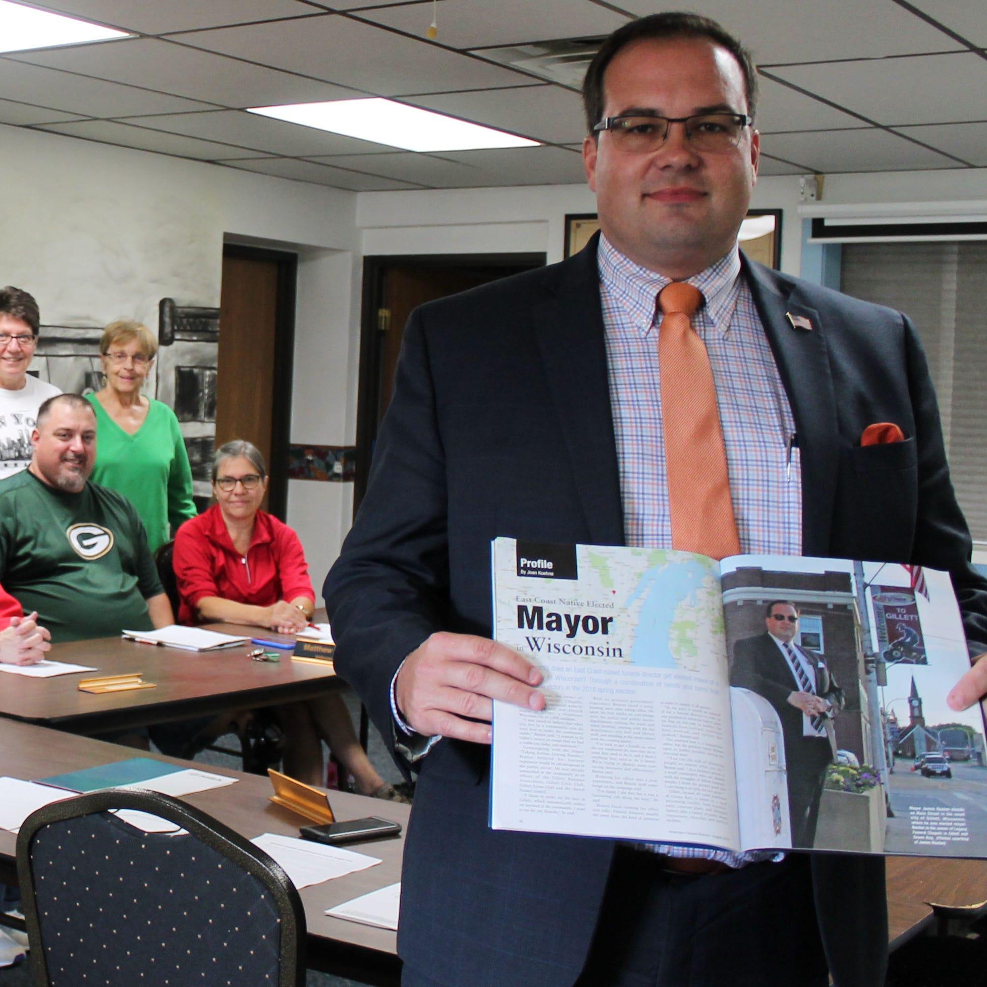Gillett mayor James Beaton featured in funeral director magazine