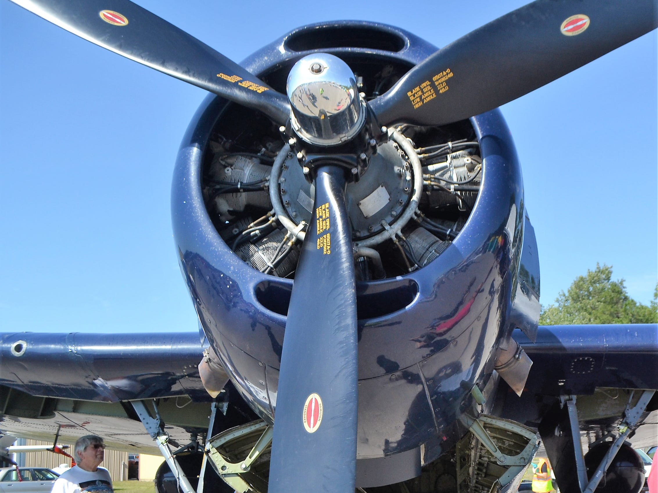Richard Faccio of Norway, Michigan, checks out the TBM Avenger, a WWII plane, at the at the Oconto Fly-in, Car & Tractor Show on Sept. 15 at the Oconto-J. Douglas Bake Municipal Airport. Faccio had brought his 1928 street rod to the show but said he wanted to see the planes on display.