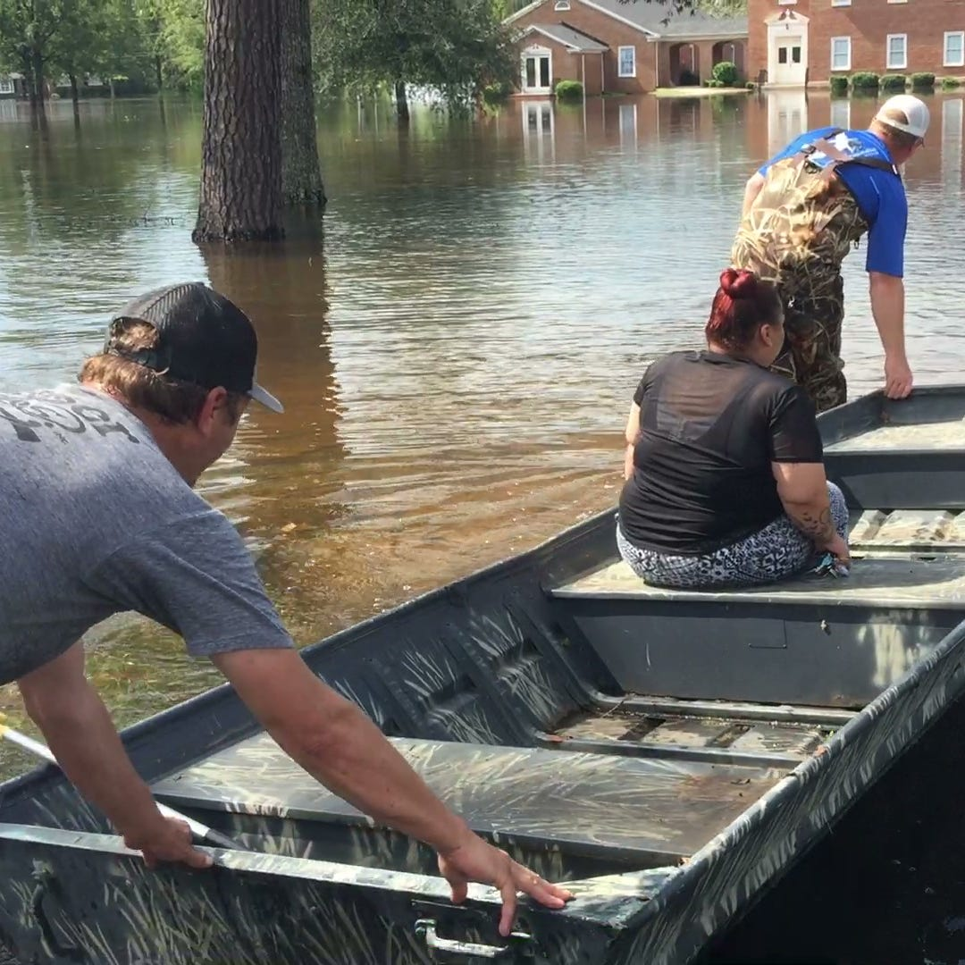 Florence flood waters swallow Conway neighborhood, continue to rise