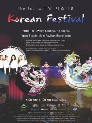 Korean Festival Sept. 22 at Ypao Beach
