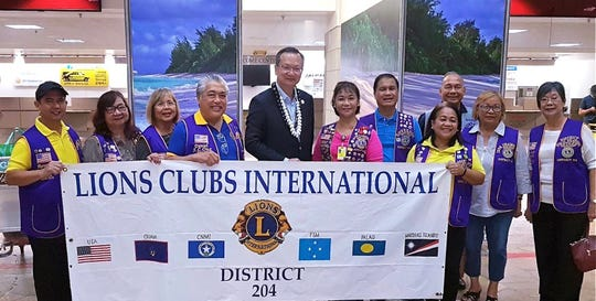LCI District 204 cabinet officers greeted Dato' Patrick Chew (5th from left), Global Service Team Vice Constitutional Area Leader from Malaysia upon his arrival to Guam on September 14. Pictured form left: Lions Ron Hidalgo, Fely Angel, RoseMarie Matsunaga, District Governor Danny Cruz, Chew, Lynda Tolan, Romy Angel, Lou Shabazz, Pete Babauta, Jill Pangelinan, and Marietta Camacho.