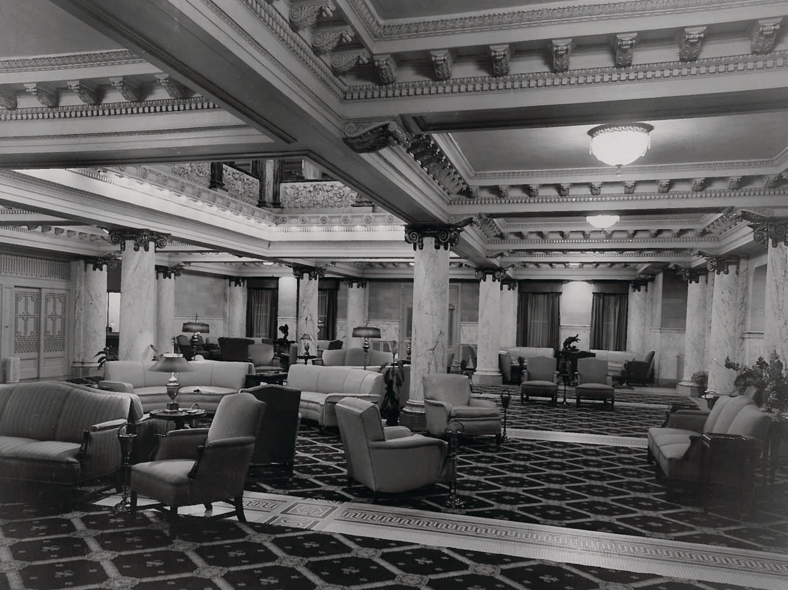 Guest lobby of the French Lick Springs Hotel (unknown date)