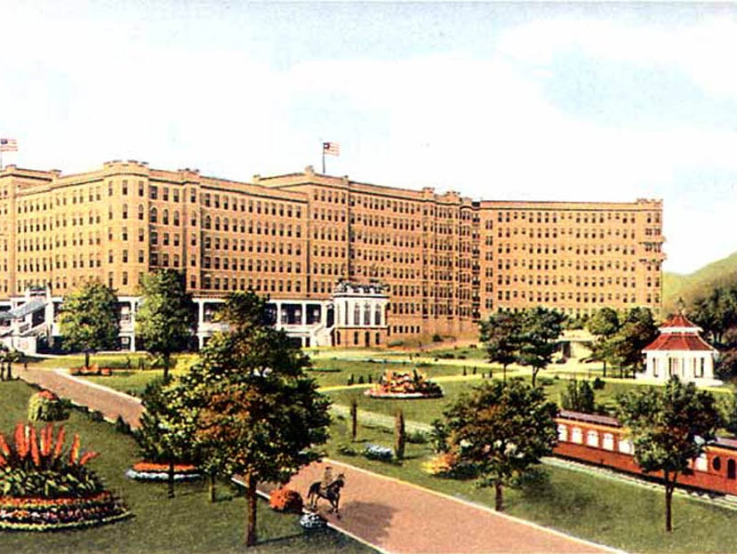 Illustration of the French Lick Springs Hotel in 1917.