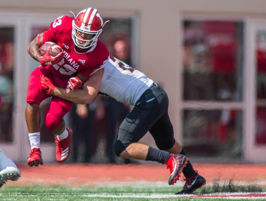 Stevie Smith isn't the only freshman back impressing for IU. Ronnie Walker (23) scored on his first career carry against Ball State.