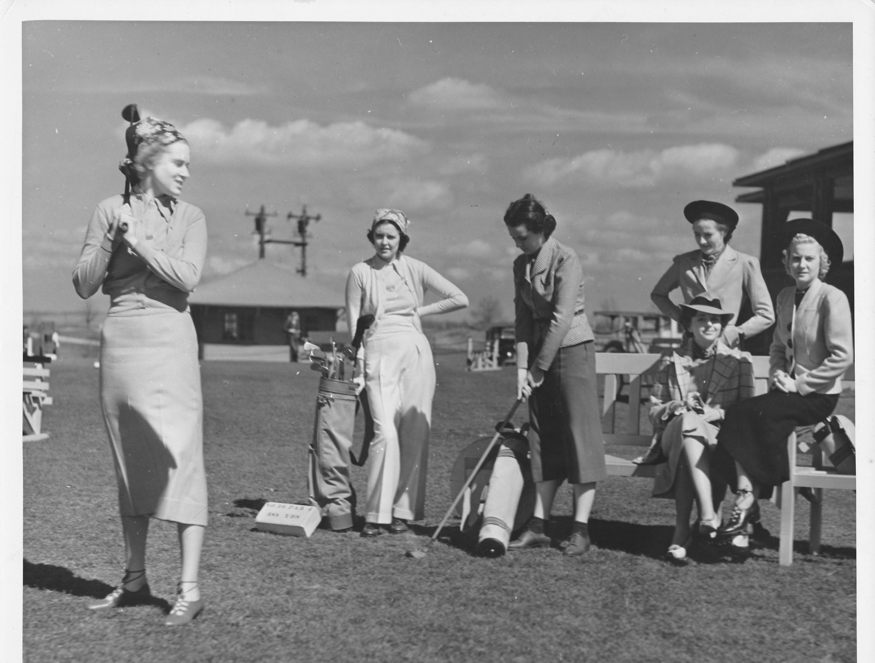 Female golfers hit the links in the 1940s at French Lick Springs Hotel