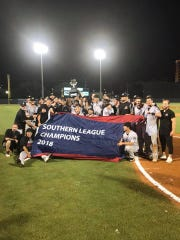 The Jackson Generals celebrated the 2018 Southern League Championship on the road in Biloxi, Miss., on Saturday night.