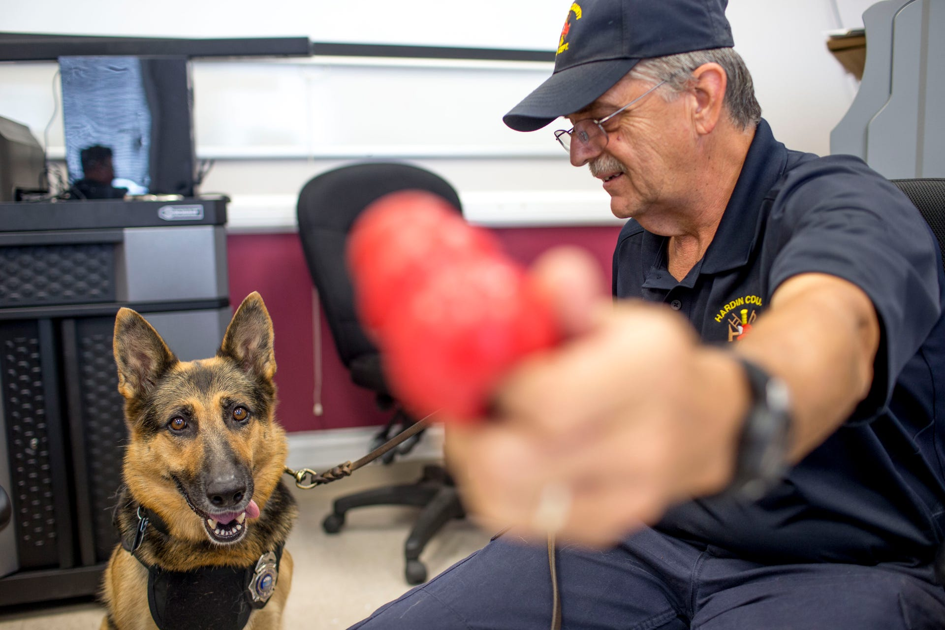 Hardin County fire chief and German shepherd partner: cancer