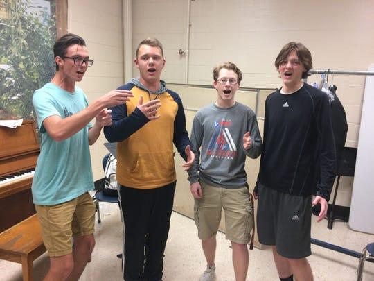 Wyatt McCarter, Jordan Cagle, Hayden Rupert and Turner Bell assume their competitive positions.