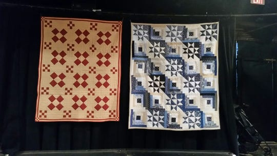 """Gail Moehlman of Knoxville made these quilts and three others for the upcoming production of """"Alias Grace"""" at the University of Tennessee's Carousel Theatre."""