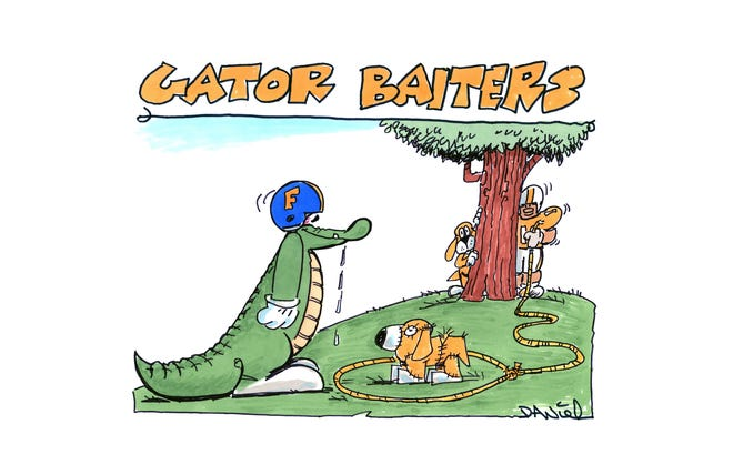Charlie Daniel's Voltoon for the 2018 Florida-Tennessee game.