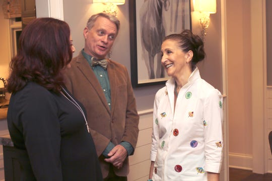 Designers Sandy Kozar, left, and Chris McKenry, center, talk with Elizabeth Grant, chairwoman for the inaugural Alzheimer's Tennessee Designer Home and Garden Tour.