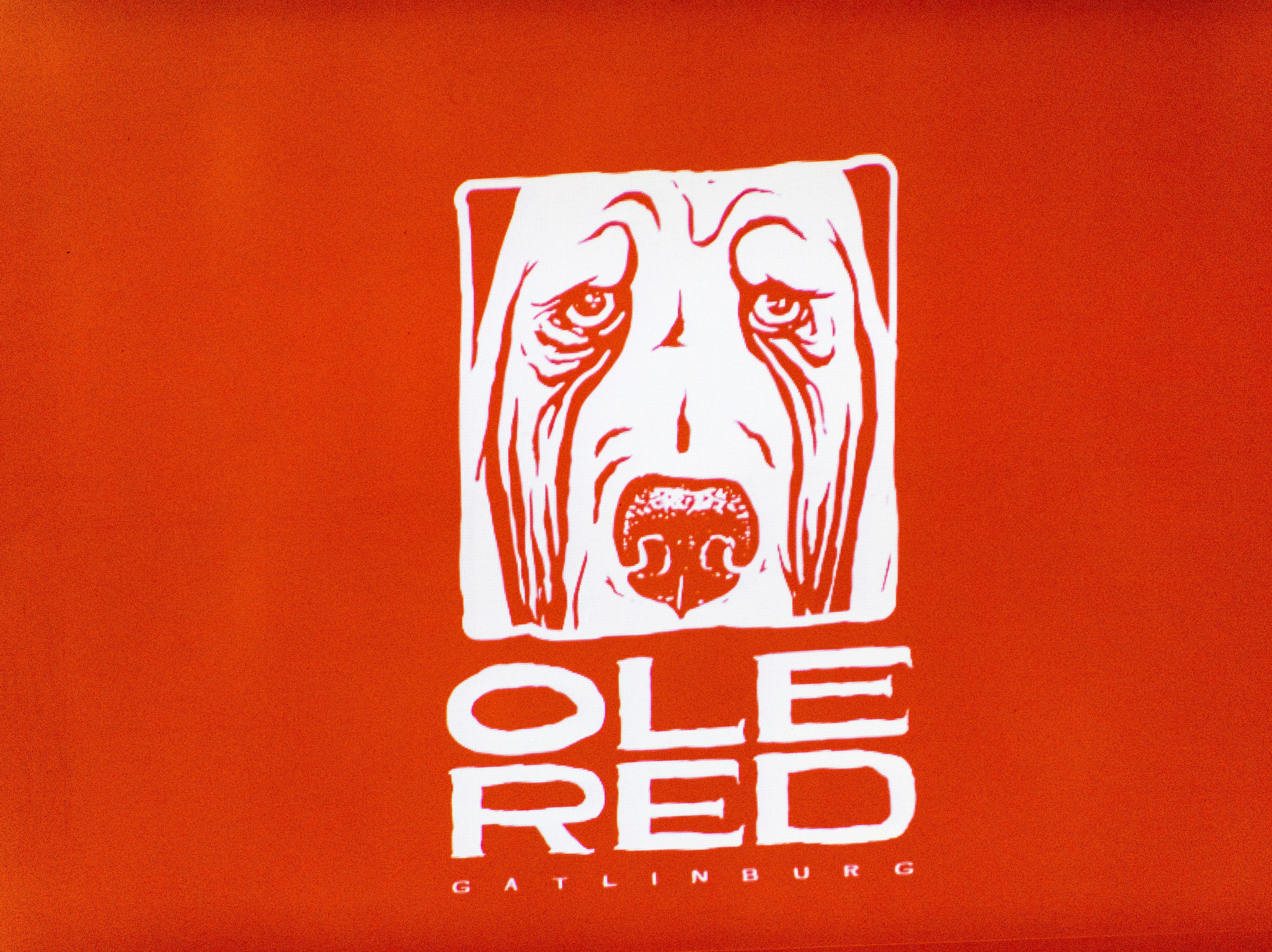 The Ole Red Gatlinburg logo is displayed in Gatlinburg, Tennessee on Tuesday, September 18, 2018. The 13,500 square-foot entertainment venue with a two-story bar, restaurant and performance space with space for 325 patrons is slated to open spring 2019.