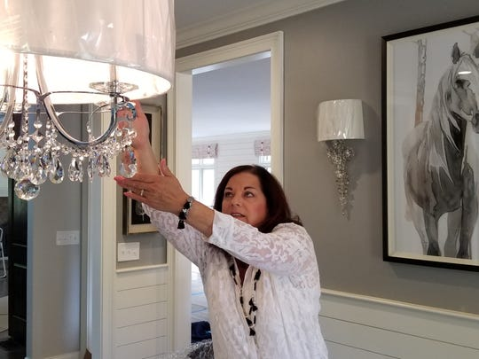 Sandy Kozar, owner of Decorating Den Interiors, and her team have been working at the home of Scott and Hope Davis to get ready for the Alzheimer's Tennessee Designer Home & Garden Tour.