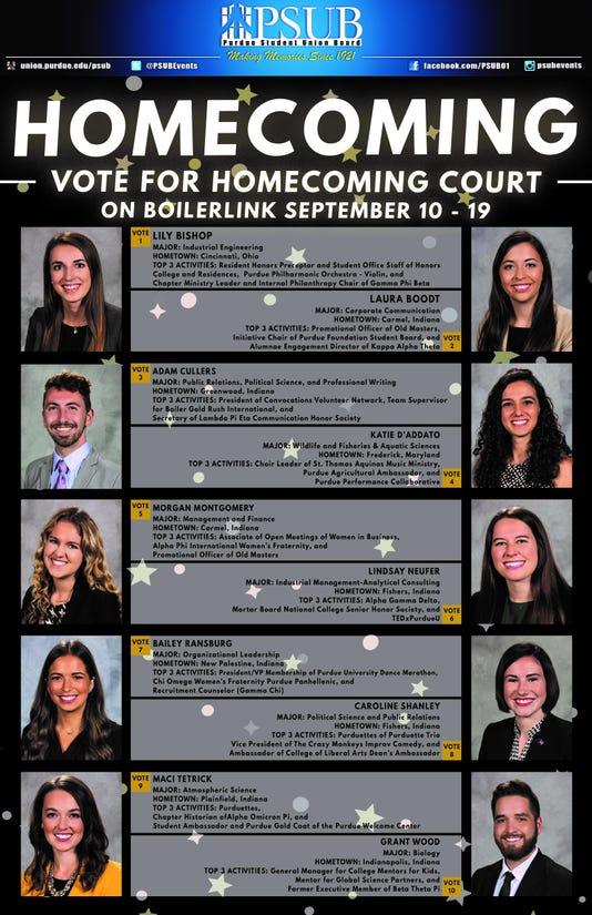 Purdue Homecoming Court