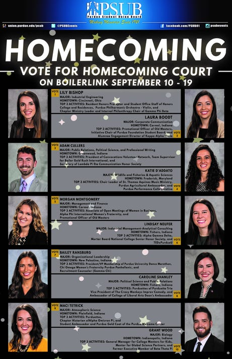 Purdue Homecoming Court