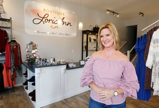 Owner Lori Ann Schlaifer Tuesday, September 18, 2018, at Boutique Lori Ann, 101 N. Sixth Street in downtown Lafayette. Boutique Lori Ann  features a variety of women's fashion and accessories. Store hours are 11-7 Monday through Friday, and 10-4 on Saturday.