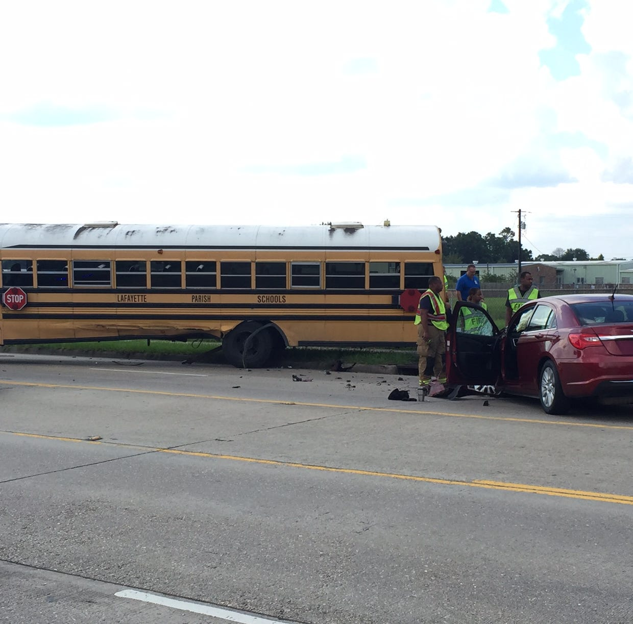 School bus crash reported on Willow Street