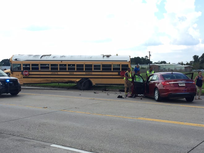 A Lafayette Parish school bus was involved in a Tuesday afternoon crash on Willow Street.