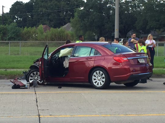 This vehicle was involved in a crash with a Lafayette Parish school bus Tuesday afternoon.
