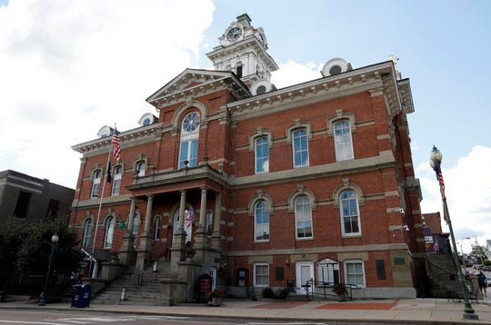 The Athens County Courthouse at the corner of Court and Washington street in Athens.