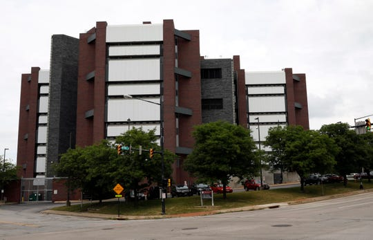 The Mahoning County Justice Center in Youngstown houses the county jail and sheriff's office.
