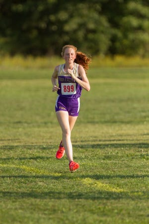 Fowlerville senior Lillian Copeland had her first career victory in a dual meet against Williamston.