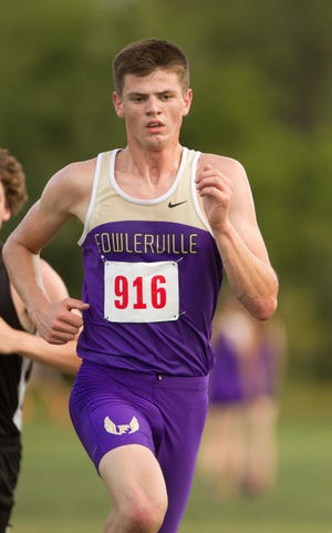Fowlerville's Blake Howard finished eighth in the CAAC Red jamboree with a time of 17:51.3 on Tuesday, Sept. 18, 2018.