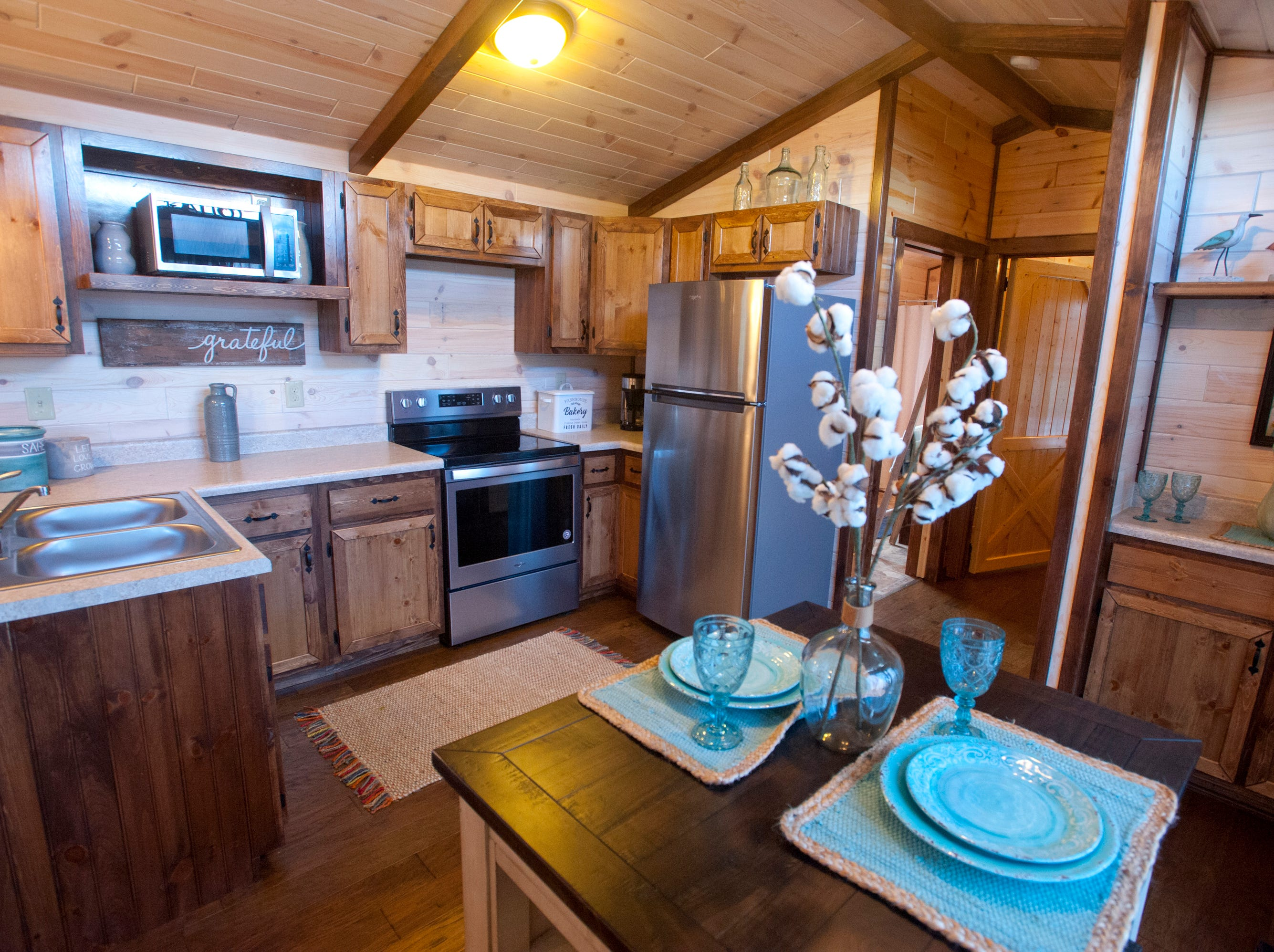 The kitchen of the open-concept cottage.September 10, 2018