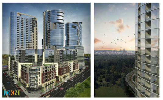 Development plans for high rise complex near cherokee park views of proposed one park reheart Choice Image