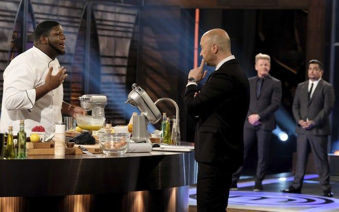 "Louisville's Gerron Hurt explains his culinary choice with ""Masterchef"" judge Joe Bastianich."