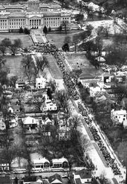 Civil rights march on Frankfort, 1964