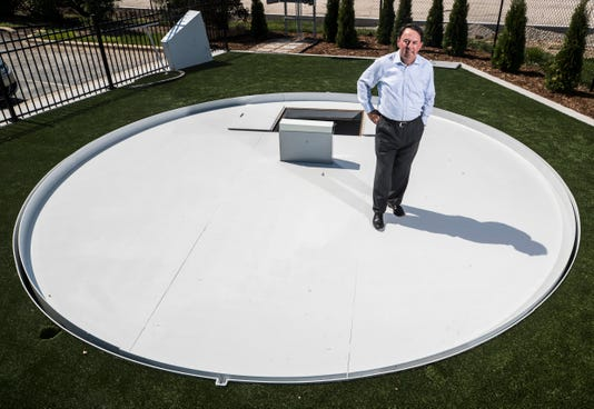 Retractable Pitching Mound