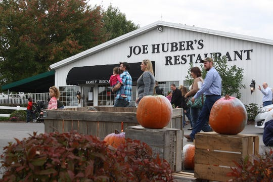 Thousands flock to Joe Huber's Family Farm and Restaurant in Starlight, Indiana every autumn. The restaurant is shown in this 2014 file photo.