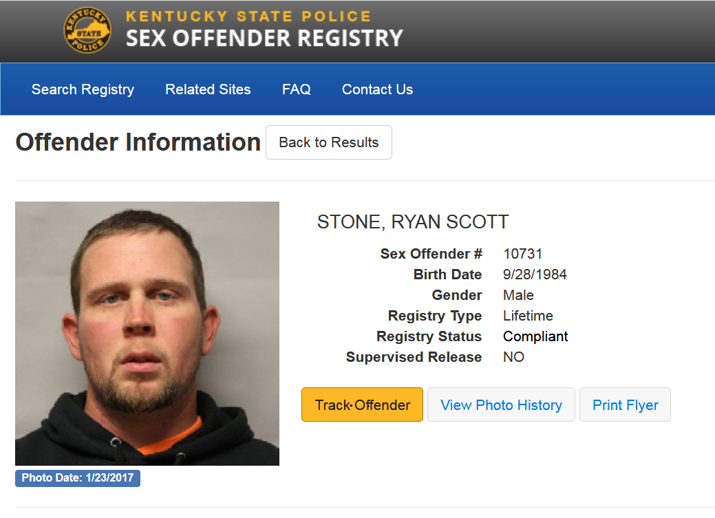 Reverse sexual offender search