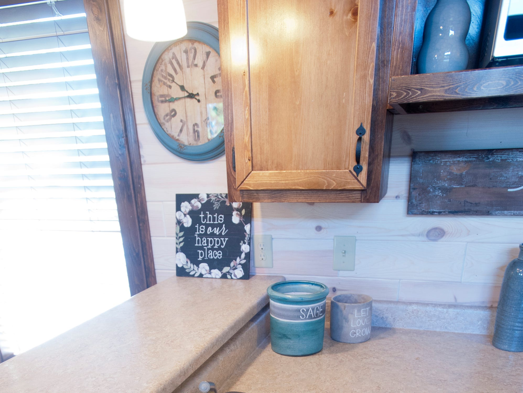 """The """"White River"""" cottage, geared toward its elderly and disabled customers, has a steel double-sink.September 10, 2018"""